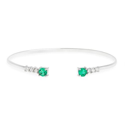 Bracelete esmeraldas colombianas e brilhantes
