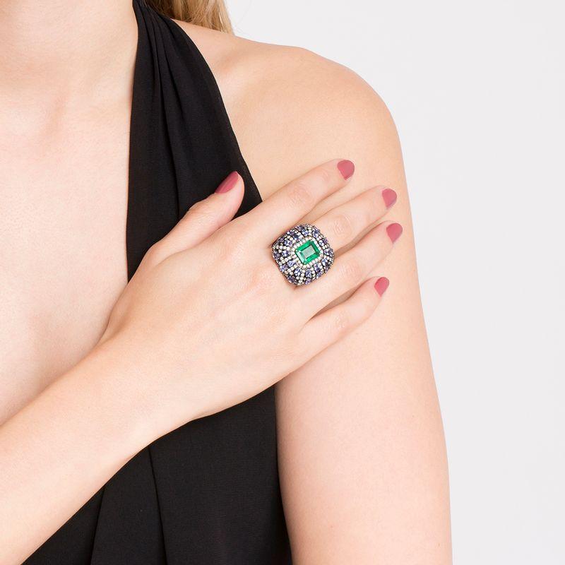 modelo-anel-esmeralda-tanzanitas-brilhantes-brancos