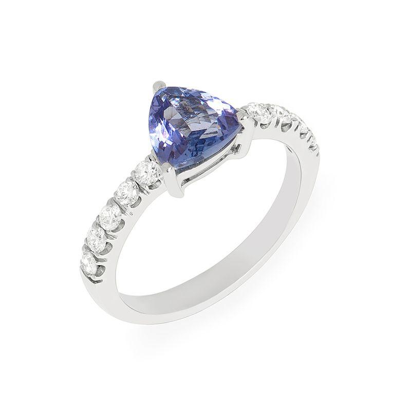 anel-ouro-branco-tanzanito-trillion-brilhantes