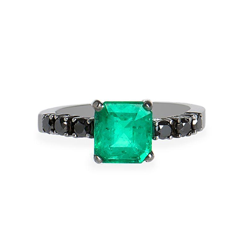 anel-ouro-negro-esmeralda-diamante-negro-frontal