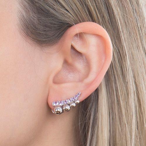 Brinco ear cuff ametista