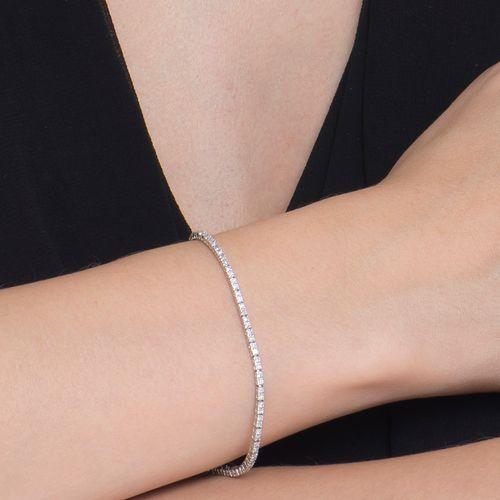 Riviera brilhantes brancos 1,25cts ouro branco
