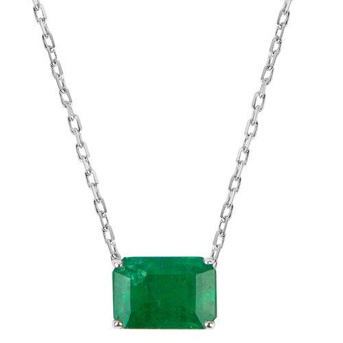 Colar esmeralda 0,50ct